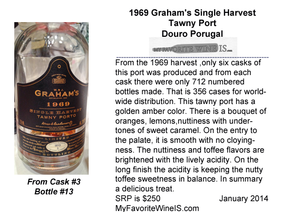1969 Graham's Single Harvest Tawny Port Douro Portugal My Favorite Wine IS