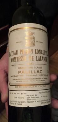1981 Pichon Lalande caviar