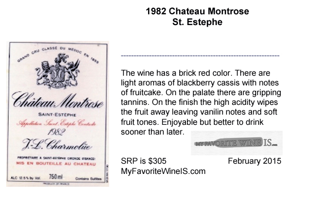 1982 Montrose wine review