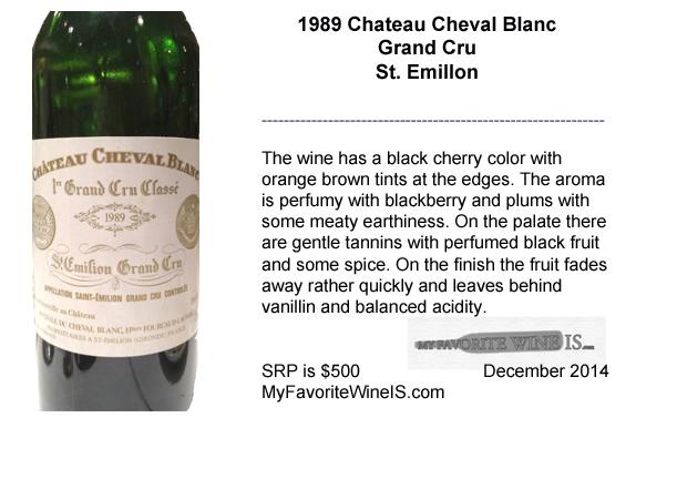 1989 Chateau Cheval Blanc