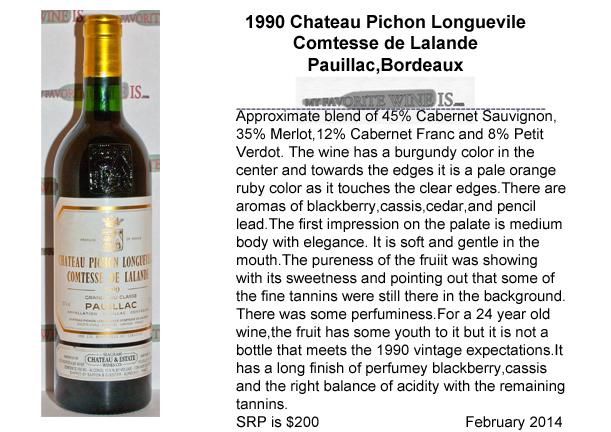 1990 Chateau Pichon Longueville Comtesse de Lalande My Favorite Wine