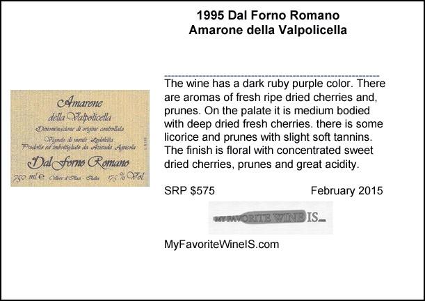 1995 Dal Forno Romano Amaone della Valpolicella