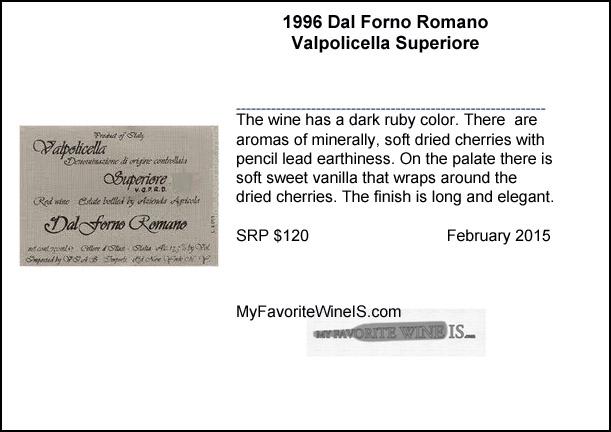 1996 Dal Forno Romano Valpolicella Superiore