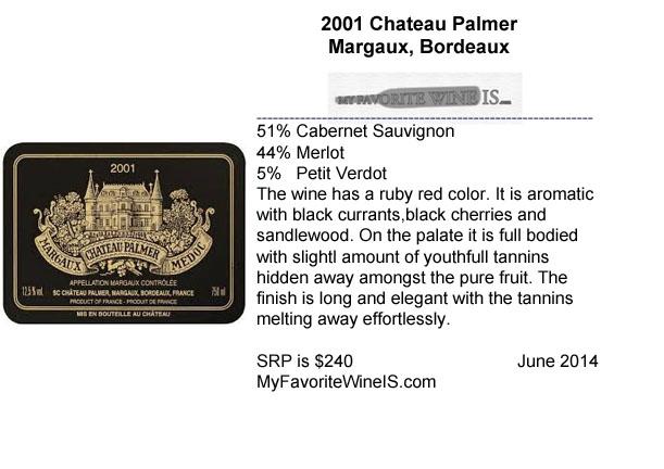 2001 Chateau Palmer Margaux Bordeaux