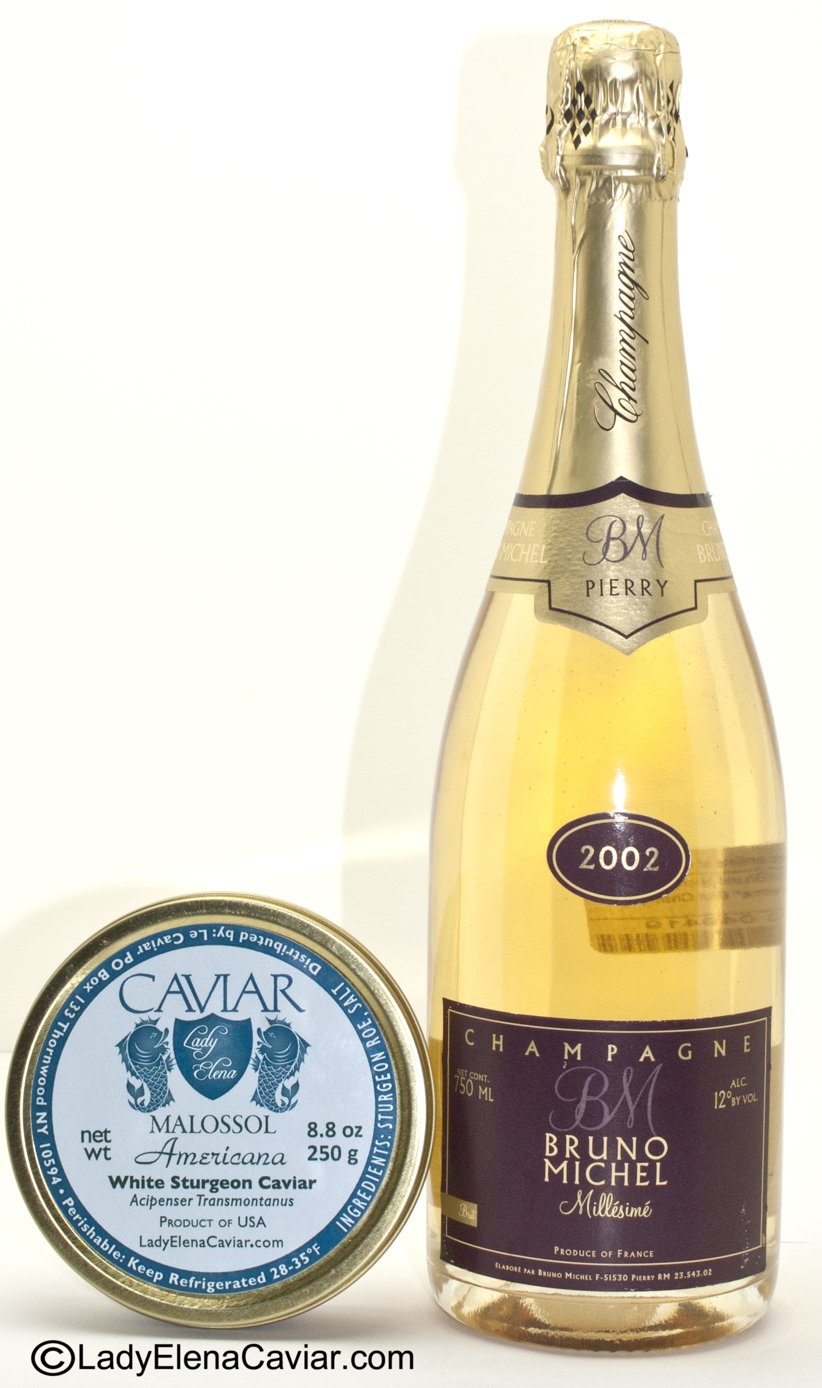 how to eat caviar with champagne