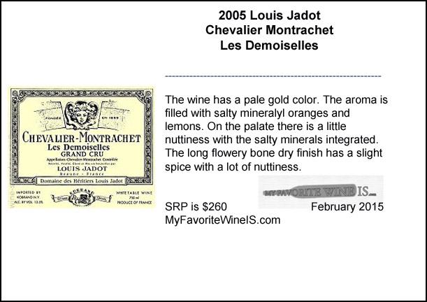 2005 Louis Jadot Chevalier Montrachet Les Demoiselles