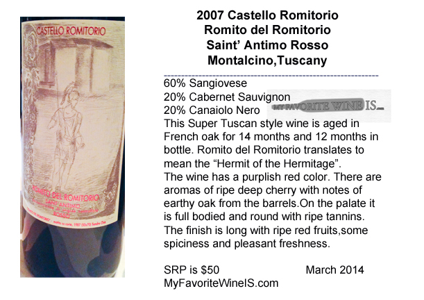 2007 Castello Romitorio Romito del Romitorio Super Tuscan
