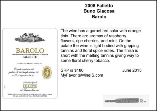 2008 Bruno Giacosa Falletto Barolo