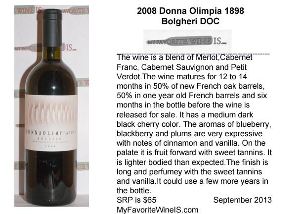 2008 Donna Olimpia 1898 Bolgheri My Favorite Wine