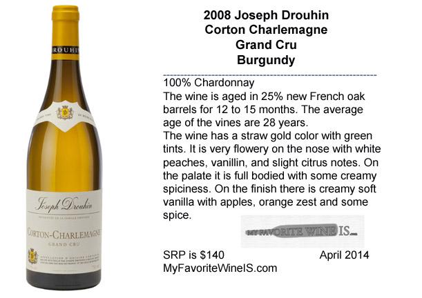 2008 Joseph Drouhin Corton Charlemagne Grand Cru