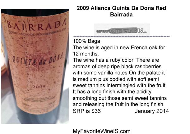 2009 Alianca Quinta Da Dona Red My Favorite Wine IS