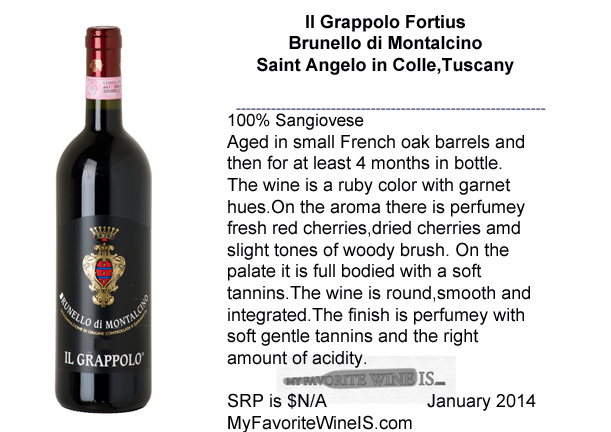 2009 Il Grappolo Fortius Brunello di Montalcino My Favorite Wine IS
