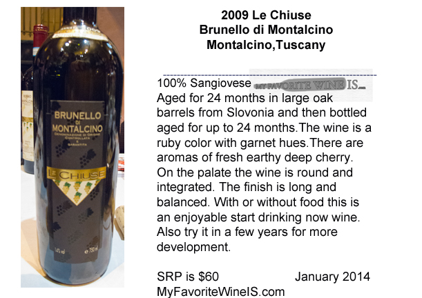2009 Le Chiuse Brunello di Montalcino My Favorite Wine IS
