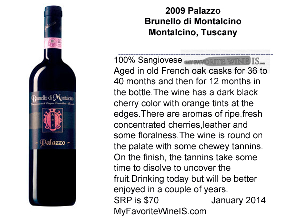 2009 Palazzo Brunello di Montalcino My Favorite Wine IS