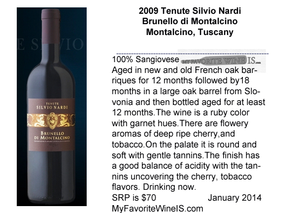 2009 Tenute Silvio Nardi Brunello di Montalcino My Favorite Wine IS