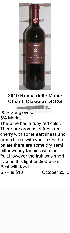 2010 Rocca delle Macie Chianti Clasico