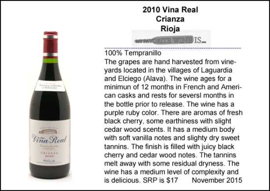 2010 Vina Real Crianza Rioja Spain