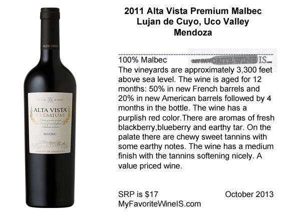 2011 Alta Vista Premium Malbec