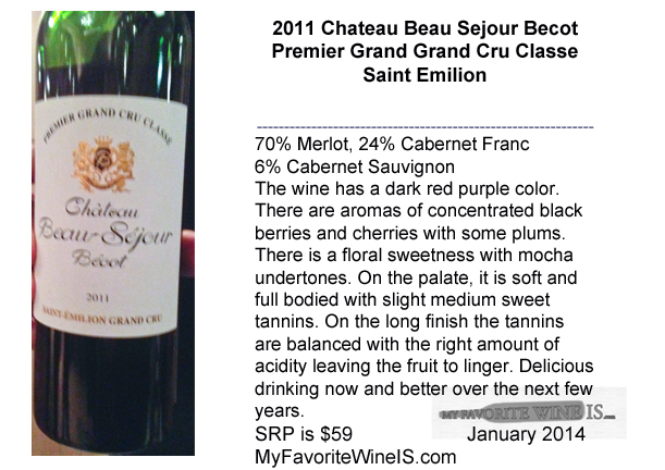 2011 Chateau Beau Sejour Becot Wine Review