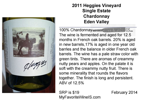 2011 Heggies Vineyard Chardonnay Eden Valley Australia