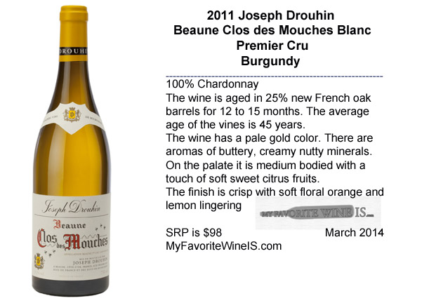 2011 Joseph Drouhin Clos des Mouches Premier Cru Blanc