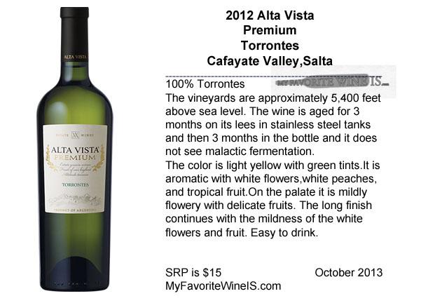 2012 Alta Vista Premium Torrontes