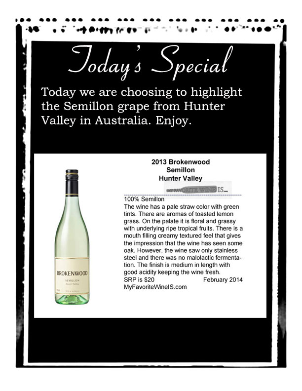 2013 Brokenwood Semillon