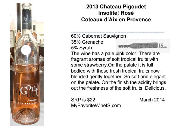 2013 Chateau Pigoudet Insolite! Coteaux d'Aix en Provence