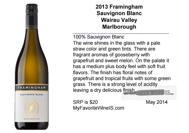 2013 Framingham Sauvignon Blanc Marlborough