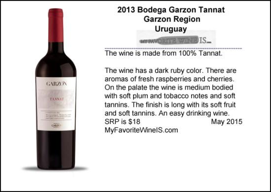 2013 Garzon Tannat from Uruguay