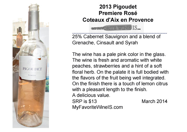 2013 Pigoudet Premiere Rose Coteaux d'Aix en Provence