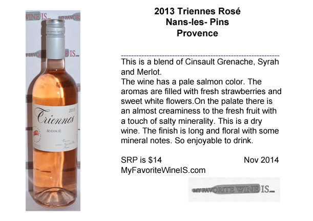 2013 Triennes Rosé from Provence