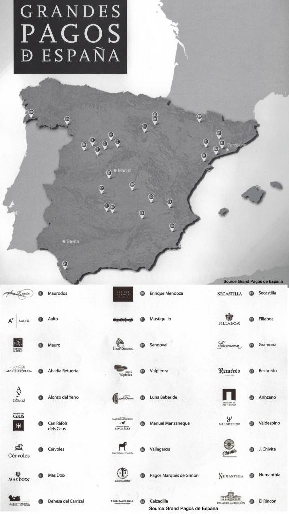 Grandes Pagos de Espana Map