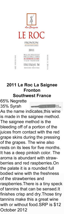 2011 Le Roc Saignee for WEB
