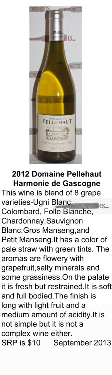 2012 DomainePellehaut Harmonie de Gascogne  for WEB