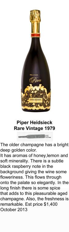 1979 Piper Heidsieck Rare Vintage 1979 for WEB