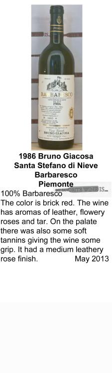 1986 Bruno Giacosa Santa Stefano di Nieve for WEB