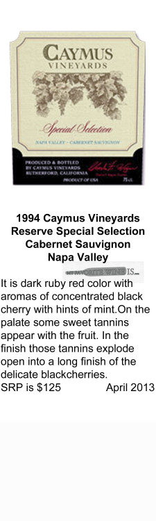 1994 Caymus Special Selection Reserve for WEB