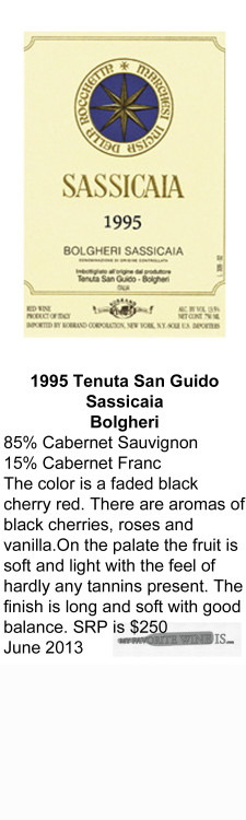 1995 Tenuta San Guido Sassicaia for WEB