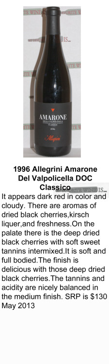 1996 Allegrini Amarone de Valpolicella for WEB