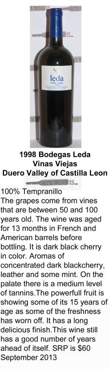 1998 Bodegas Leda Vinas Viejas for WEB