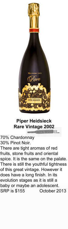 2002 Piper Heidsieck Rare Vintage 2002 for WEB