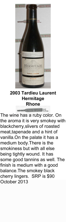 2003 Tardieu Laurent Hermitage for WEB