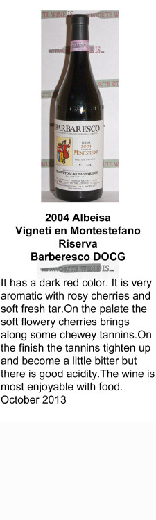 2004 Albeisa Vigneti en Montestefano Riserva Barberesco DOCG for WEB