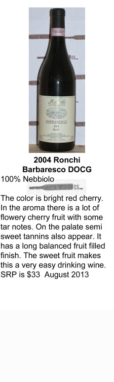 2004 Ronchi Barberesco   for WEB