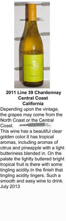 2011 Line 39 Chardonnay Central Coast for WEB
