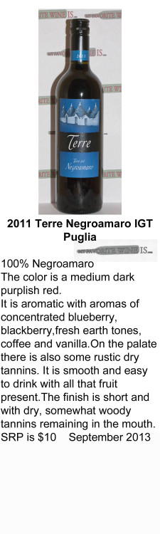 2011 Terre Negroamaro My Favorite Wine