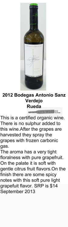 2012 Bodegas Antonio Sanz Verdejo for WEB