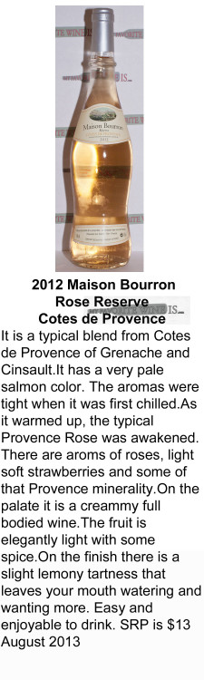 2012 Maison Bourron Reserve for WEB
