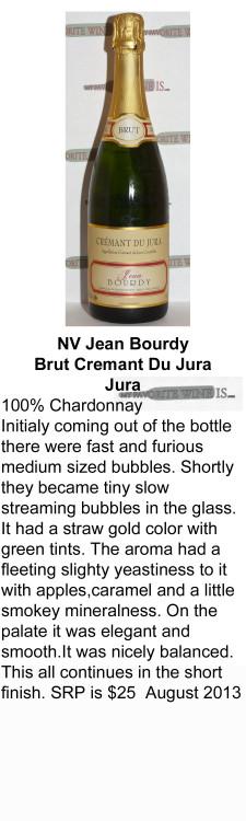 NV Jean Bourdy Cremant Du Jura for WEB